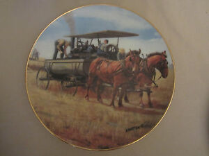 WATER WAGON collector plate EMMETT KAYE Farming the Heartland STEAM ENGINE Horse