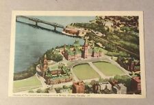 HOUSES OF PARLIAMENT-INTERPROVINCIAL BRIDGE, OTTAWA ON white-border postcard