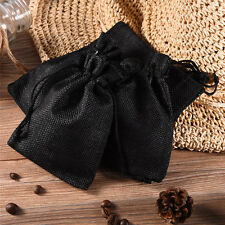 12pcs Linen Pouches Drawstring Gift Wedding Favor Bags for Jewelry Packaging
