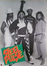 Steel Pulse 1985 Black And White Original Promo Poster