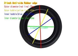 """1pcs 2.5/2.75/3""""inch Speaker surround rubber Edge HiFi Audio repair Anti-side"""