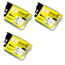 3 YELLOW Ink Cartridge for Series LC61 Brother MFC 490CW 495CW 585CW J265w J630W