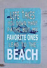 SALE - New Beach Path Metal Sign - Home Decor - Housewarming Gift - Beach Decor