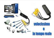 SCHEDA DI ACQUISIZIONE IMMAGINI A/V USB 4 CANALI PER VIDEO SORVEGLIANZA