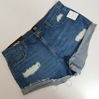 BDG Urban Outfitters Womens Denim Jean Shorts Size 30 Destroyed Distressed NEW