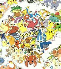 Random 50pc Lot Pokemon Anime Character Wall Laptop PS XBOX Decal Sticker Set