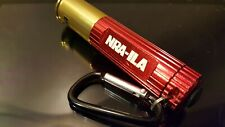 NRA-ILA Aluminum Shotgun Shell LED Flashlight w/Carabiner Red