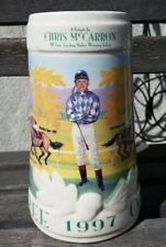 Vintage Jockey CHRIS McCARRON 1997 Oak Tree HORSE Racing tribute Stein Mug