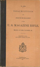 Model 1903 U.S. Magazine Rifle, .30 Cal. Description & Rules For Management 1906