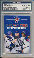 Joe Maddon Signed 2015 Chicago Cubs Pocket Schedule PSA/DNA Auto #4473