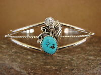 Zuni Indian Jewelry Sterling Silver Turquoise Pendant by Denise Siutza