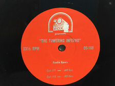 Radio Spot 7 Inch Vinyl Record 33RPM - Towering Inferno 1974  Newman  NONE EXIST