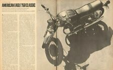 1969 American Eagle 750 Classic Motorcycle Road Test 5-Page Article