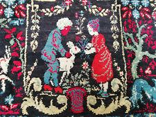 Vintage Handmade Moroccan Azilal Organic Wool Area Rug Beni Ourain Tribal Carpet