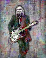 TOM PETTY Tribute Poster  Tom Petty & The Heartbreakers Art 8x10in Free Ship