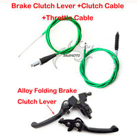 Brake Lever Clutch Cable Green For 110cc 125cc 150cc Dirt Pit Bike CRF50 SSR KLX