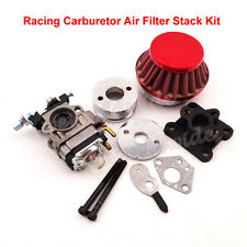 47cc 49cc Racing Carburetor Kit Carb Air Filter Stack Pocket Bike Mini ATV Dirt