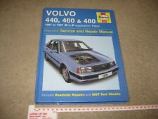 Haynes Manual Volvo 440 460 480 Hatchback Saloon Coupe Turbo 1987 to 1997 Petrol