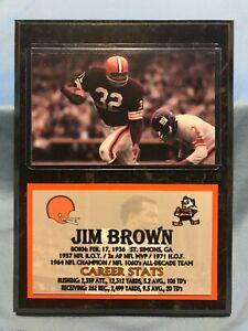 JIM BROWN  CLEVELAND BROWNS  SUBLIMATION PHOTO PLAQUE