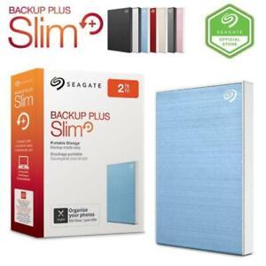 "NEW Seagate Backup Plus Slim 2TB USB 3 2.5"" External Portable Hard Drive PC MAC"