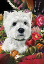 WESTIE CORNUCOPIA GARDEN FLAG FREE SHIP USA RESCUE