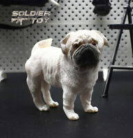 """Free Shipping 1/6 Scale Adorable Cute Pug Dog Model for 12"""" Action Figure Toy"""