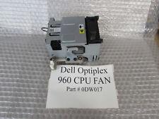 Dell 0DW017 Optiplex 960 SFF Processor / CPU Cooling Heatsink and Fan - USED