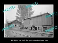 OLD LARGE HISTORIC PHOTO OF NEW MILFORD NEW JERSEY ERIE RAILROAD STATION c1910 2