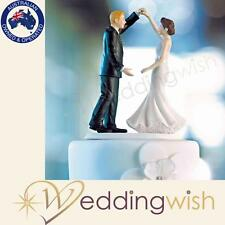Wedding Dancing the night away, Cake Topper, Bride and Groom Porcelain