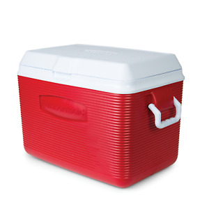 Personal Cooler Food Ice Chest Lunch Box 48 Qt Large Picnic Camping Red Hard NEW