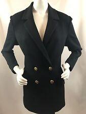 St John Basics Black Santana Knit Heritage SJ Sweater Jacket Coat 8