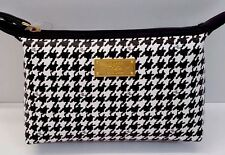 Ralph Lauren Agdon Houndstooth Cosmetic Case (Cream and Black)