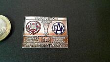 Matchpin Pin Badge Hearts of Midlothian FAK Austria Wien UEFA Cup 88/89