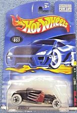 2001 Hot Wheels #057 Rat Rods Series 1of4 Track T Black/Brown Tampo Variation