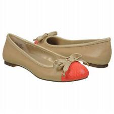 Bandolino Women's Flats Shoes Light Natural tan & Coral Bow Genie Sz 11 NEW