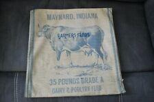 "Farmhouse Cow Pillow Cover Maynard Indiana Farmers Dairy Feeds 16"" Home Decor"