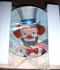 """Red Skelton """"THE PLEDGE"""" Limited Edition Signed Collector's Plate - NIB -PRIV"""