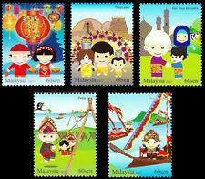 Malaysia Festivals II 2012 Traditional Costume (stamp) MNH *glitter *unusual