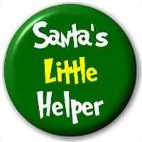 Small 25mm Lapel Pin Button Badge Novelty Santa'S Little Helper