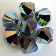 6 5mm Swarovski 5301 Crystal Bicones-Wt.Opal Star Shine