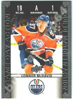 2019-20 UD TIM HORTONS GAME DAY ACTION CONNOR MCDAVID INSERT CARD # HGD1 MINT!