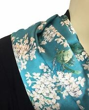 Liberty of London Handmade 100% satin de soie foulard turquoise Archive Lilas