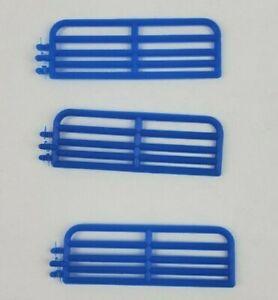 1/64 Standi 10' hog gate lot of 3 pieces custom farm display Blue