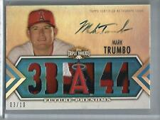 Mark Trumbo 2012 Topps Triple Threads Autograph Game Jersey Patch #03/10