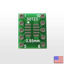 SOT23 SSOP10 MSOP10 UMAX 0.5/0.95mm to DIP Adapter PCB Breakout Board Converter
