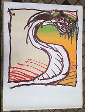 ALECHINSKY Pierre Affiche 160 x 120 cm abstraction cobra art abstrait Belgique