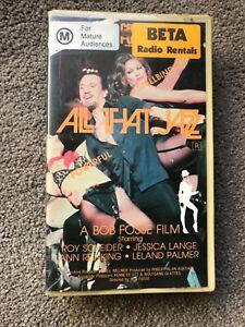Rare 1979 ALL THAT JAZZ Betamax Home Video Ex Rental BETA Not VHS Jessica Lange