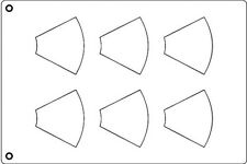 """Tuile Template, Cone, 3-5/8"""" x 3"""" Each. Overall Sheet 10.5"""" x 15.5"""""""