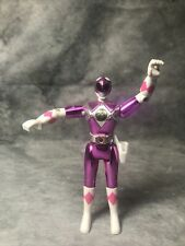 Vintage 1995 Bandai Power Rangers Metallic Chrome Pink Action Figure Toy Loose