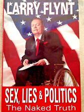"LARRY FLYNT Hustler Magazine ""Sex, Lies, & Politics"" Signed at Borders 1st/1st"